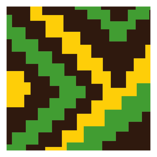 Green yellow stair kente composition