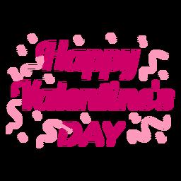 Diseño de letras feliz día de san valentín