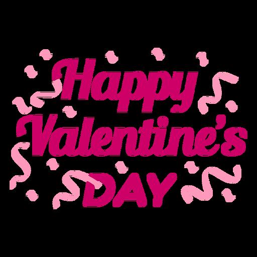 Happy valentine day lettering design