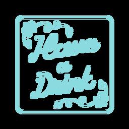 Beber diseño de montaña rusa cuadrada azul