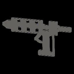 Ícone de pistola de cola quente cinza