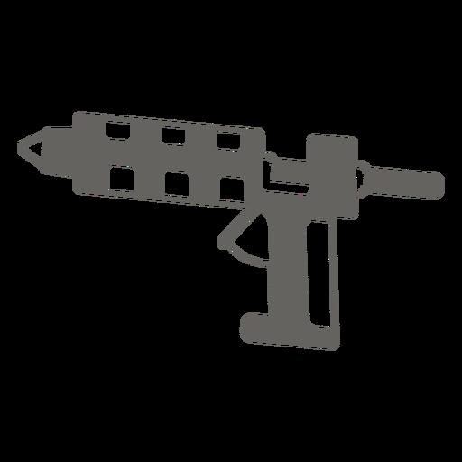 Icono de pistola de pegamento caliente gris