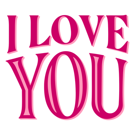 Download I love you valentine lettering - Transparent PNG & SVG ...