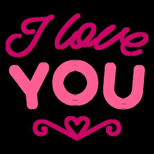Eu te amo desenho de letras dos namorados