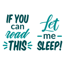 If can read this sleep quote