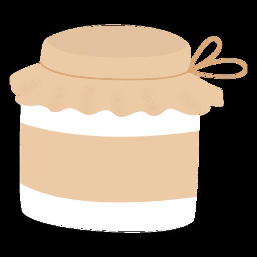Jar fabric cover flat