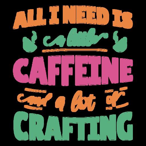 Pequeno lote de cafeína criando frase de letras