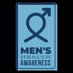 Insignia azul de símbolo masculino de salud masculina