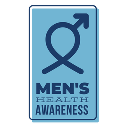 Men health male symbol blue badge