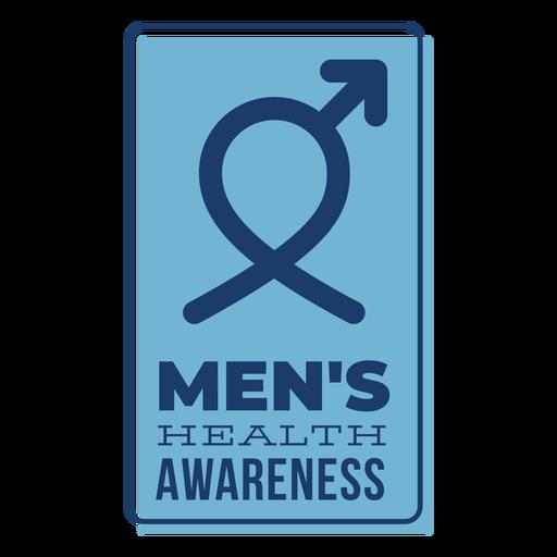 Men health male symbol blue badge