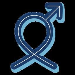 La salud de los hombres símbolo masculino cinta azul