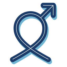 Men health male symbol ribbon blue