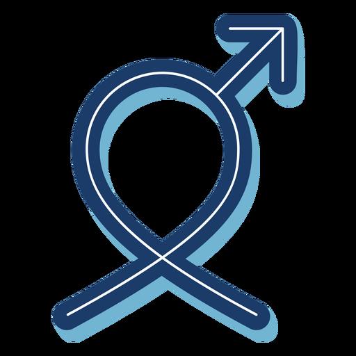 Men health male symbol ribbon blue