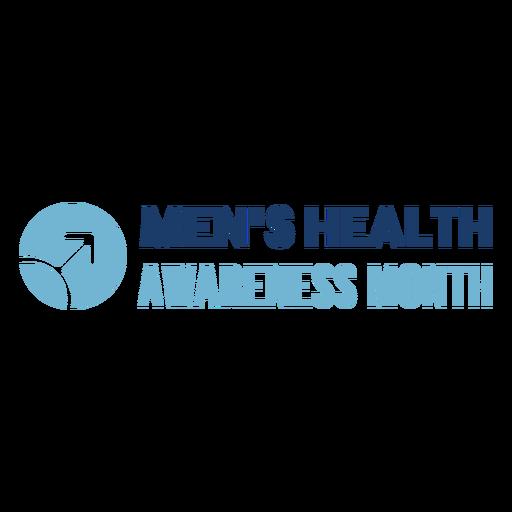 Men health month quote blue Transparent PNG