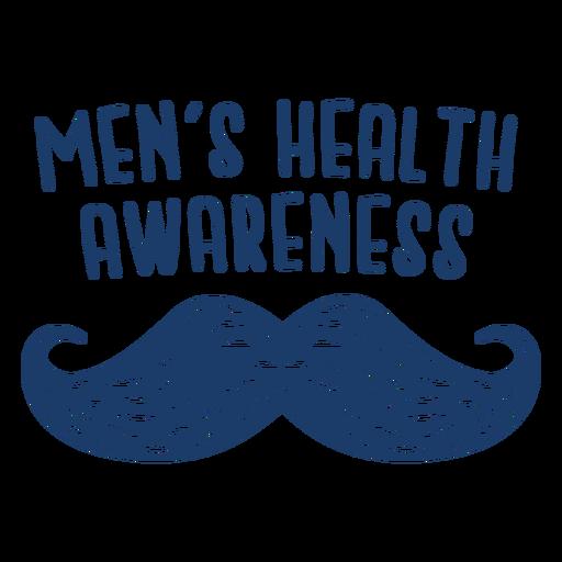 Cita del bigote punteado de la salud de los hombres azul Transparent PNG