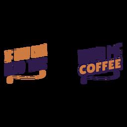 Lea esta cita de traer café
