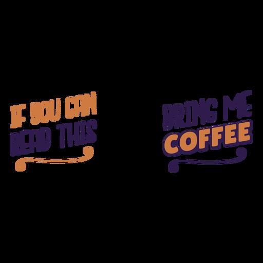 Lea esta cotización de traer café