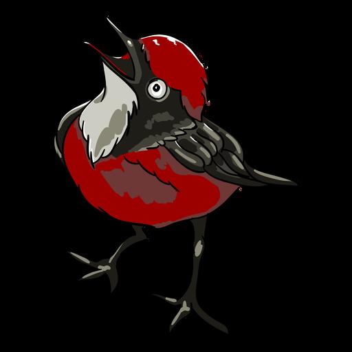 Ilustración abierta de pico de pájaro realista