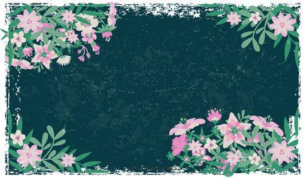 Grunge florale Kompositionen