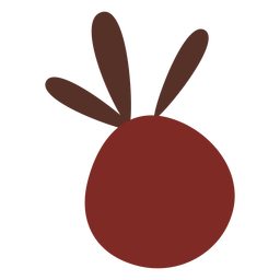 Red berry flat icon symobl