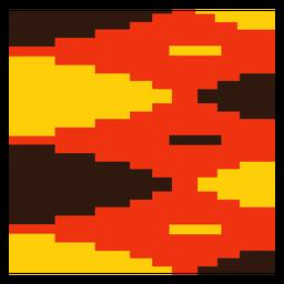 Composição kente de diamante vermelho amarelo