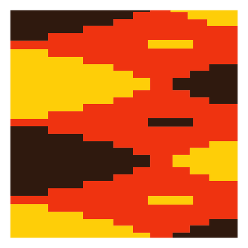 Red yellow diamond kente composition