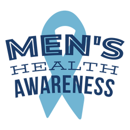 Cinta hombres salud símbolo azul