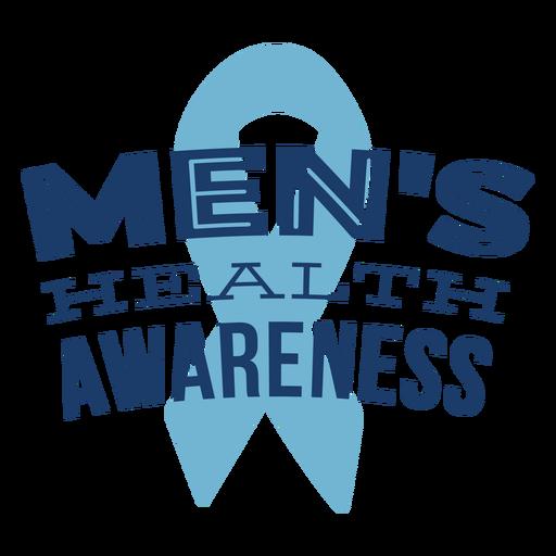 Ribbon men health symbol blue