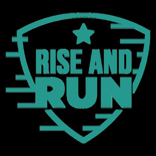 Rise and run badge green