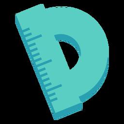 Icono plano de regla redonda