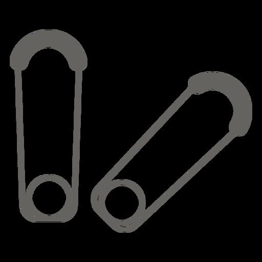 Pin de seguridad icono plano gris