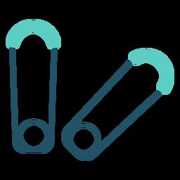 Icono plano de pin de seguridad