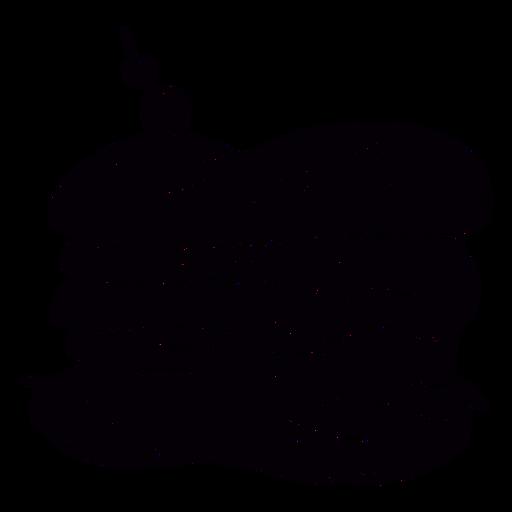 Sandwich hand drawn symbol stencil
