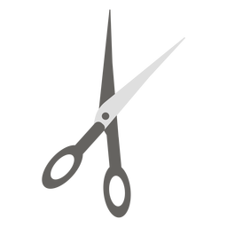 Tijeras icono plano gris tijeras