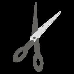 Tijeras tijeras de icono plano gris