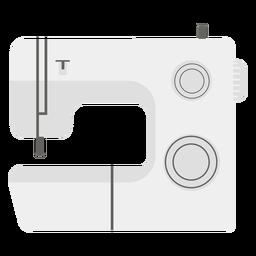 Icono plano máquina de coser gris