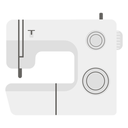 Sewing machine grey flat icon