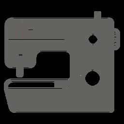 Graues Symbol der Nähmaschine