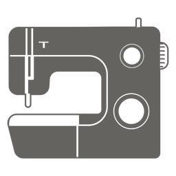 Sewing machine grey icon