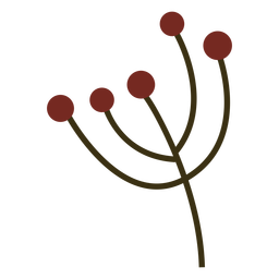Simple berry branch flat