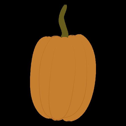 Skinny pumpkin flat Transparent PNG
