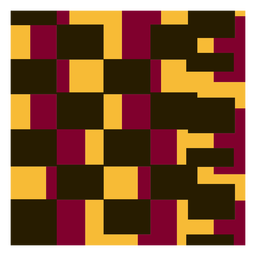 Square kente composition