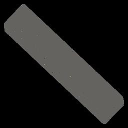 Icono de regla recta gris