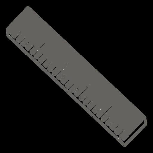 Straight ruler grey icon