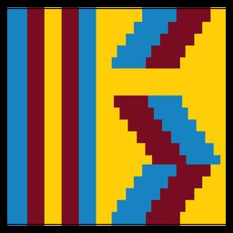 Rayas coloridas composición kente