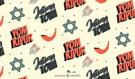 Yom Kippur Musterdesign
