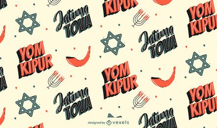 Yom Kippur Pattern Design