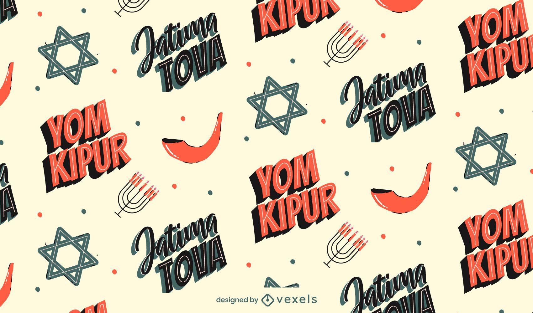 Diseño de patrón de Yom Kipur