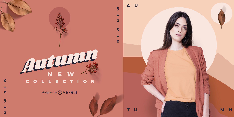 Banner de nueva colección de otoño