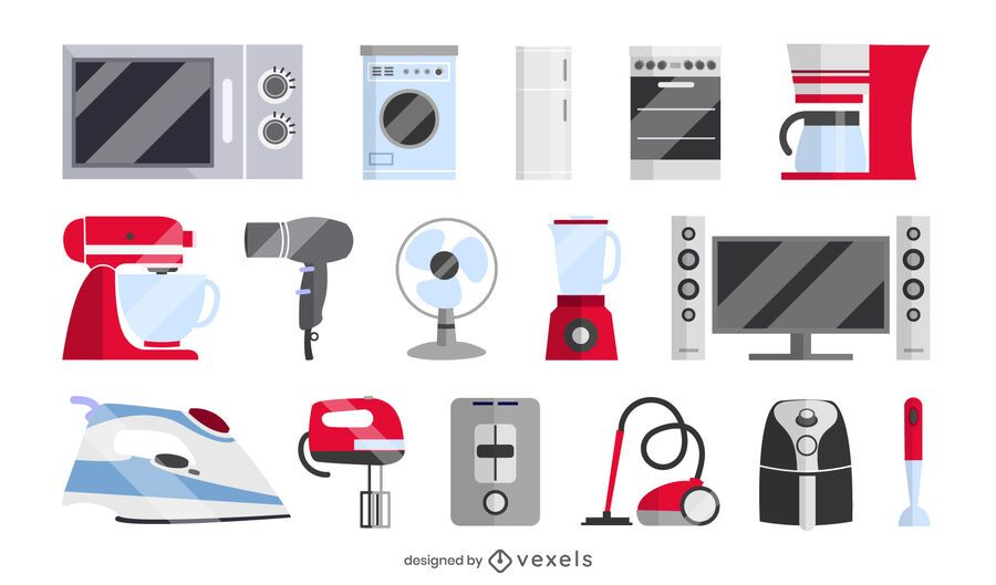 home appliances set collection